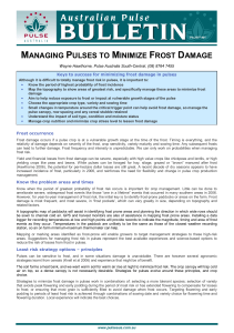 managing pulses to minimize frost damage