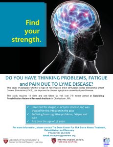 DO YOU HAVE THINKING PROBLEMS, FATIGUE and PAIN DUE