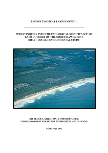 report to great lakes council public inquiry into the ecological