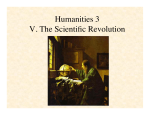 Humanities 3 V. The Scientific Revolution