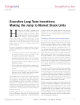 Compensia Executive Long Term Incentives: Making the Jump to