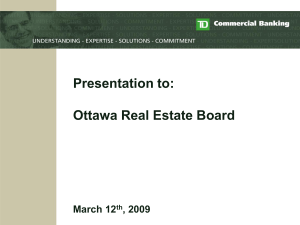 Ontario District Commercial Banking Presentation to: Ontario North