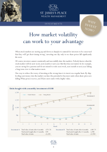 How market volatility can work to your advantage