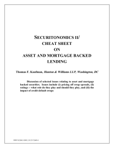 securitonomics ii/ cheat sheet on asset and mortgage backed lending