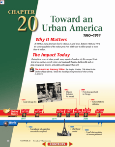 Chapter 20: Toward an Urban America, 1865-1914