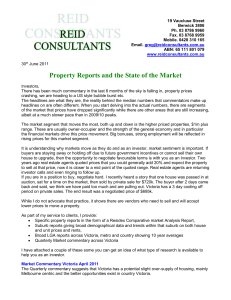 Jun 2011 – Property reports and the state of the market