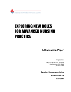 Exploring New Roles for Advanced Nursing Practice