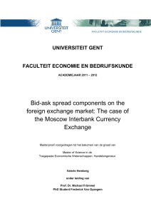 Bid-ask spread components on the foreign exchange market: The