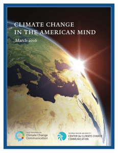 Climate Change in the American Mind: March, 2016