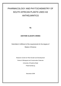 pharmacology and phytochemistry of south african plants used as