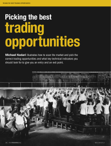 pICkING thE BESt tRADING OppORtUNItIES