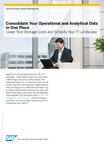Consolidate Your Operational and Analytical Data in One