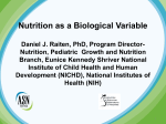 Nutrition as a Biological Variable