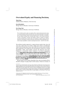 Overvalued Equity and Financing Decisions