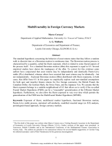 MultiFractality in Foreign Currency Markets