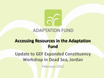 The Adaptation Fund Project Portfolio