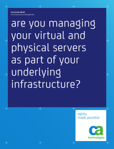 are you managing your virtual and physical servers as part of your