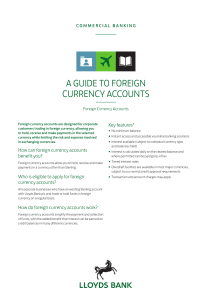 a guide to foreign currency accounts