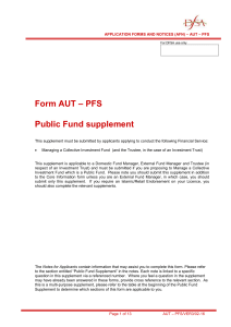 Form AUT – PFS Public Fund supplement