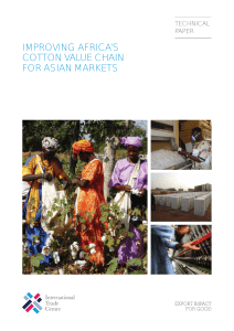 Improving Africa`s Cotton Value Chain for Asian Markets