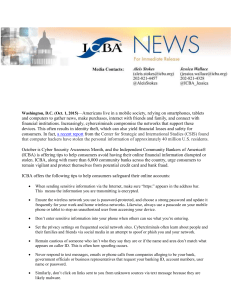 ICBA Encourages Consumers to Protect their Data during Cyber