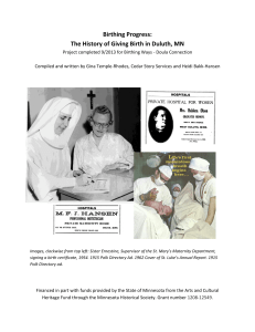 The History of Giving Birth in Duluth, MN