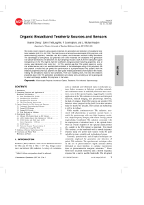 Organic Broadband Terahertz Sources and Sensors