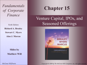 Venture capital, IPOs, and Seasoned Offerings