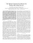 On Optimal Transmission Policies for Energy