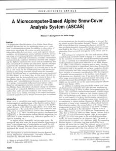 A Microcomputer-Based Alpine Snow-Cover Analysis