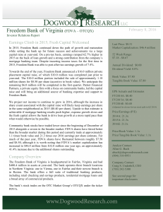 FDVA Q4 2015 Dogwood - Freedom Bank of Virginia
