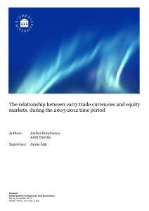 The relationship between carry trade currencies and