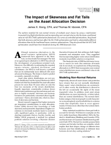 The Impact of Skewness and Fat Tails on the Asset Allocation Decision