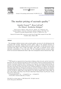 The market pricing of accruals quality