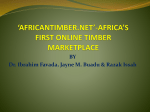 A PRESENTATION ON *AFRICANTIMBER.NET*