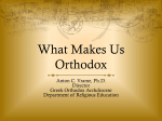 """what makes you Orthodox."" Just a couple of ""things."""
