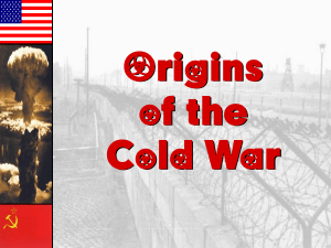 The Cold War - Cobb Learning