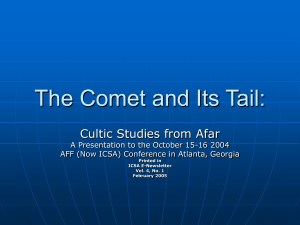 The Comet and Its Tail - International Cultic Studies Association