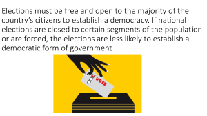 Elections must be free and open to the majority of