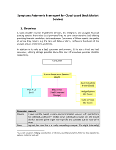 Symptoms Autonomic Framework for Market Prediction, Analysis
