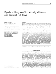 Dyadic military conflict, security alliances, and bilateral