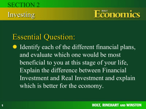 Chapter 9 Sources of Capital