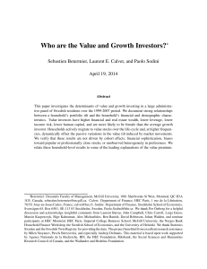 Who are the Value and Growth Investors?