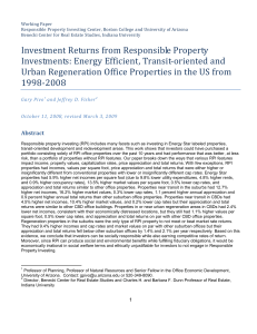 Investment Returns from Responsible Property Investments: Energy