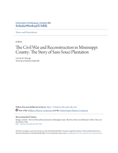 The Civil War and Reconstruction in Mississippi County: The Story of