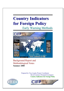 Country Indicators for Foreign Policy
