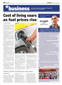Cost of living soars as fuel prices rise ALY KHAN`S