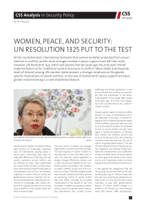 Women, Peace, and Security: UN Resolution 1325 Put to the Test