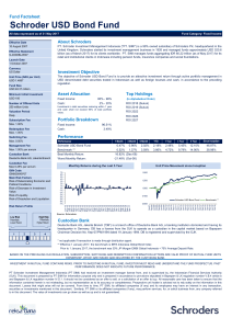 Schroder USD Bond Fund