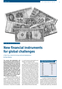 New financial instruments for global challenges